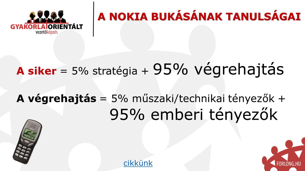 A Nokia bukásának története - a főbb okok - vezetőképzés