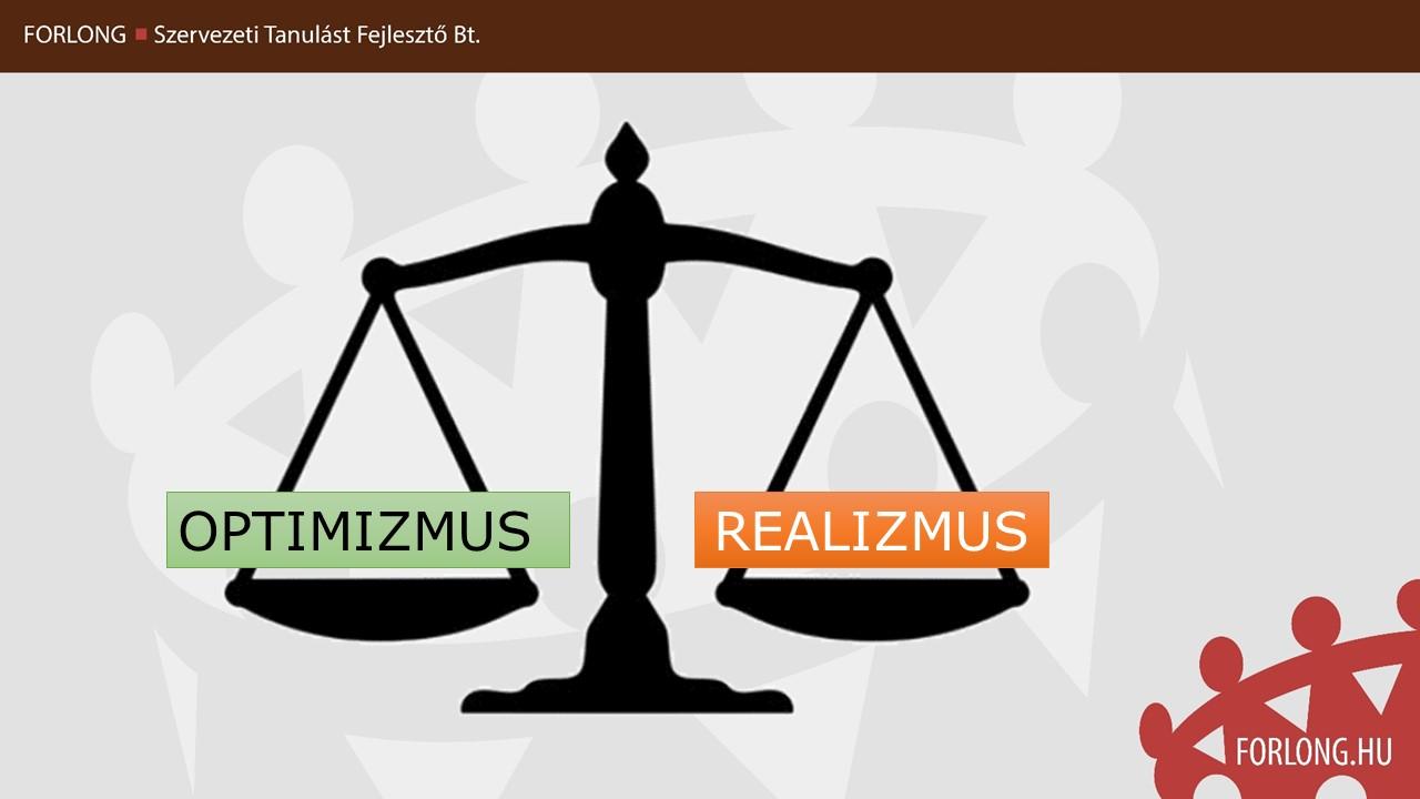 REALISTA OPTIMIZMUS - GYAKORLATORIENTÁLT VEZETŐKÉPZÉS - FORLONG BT