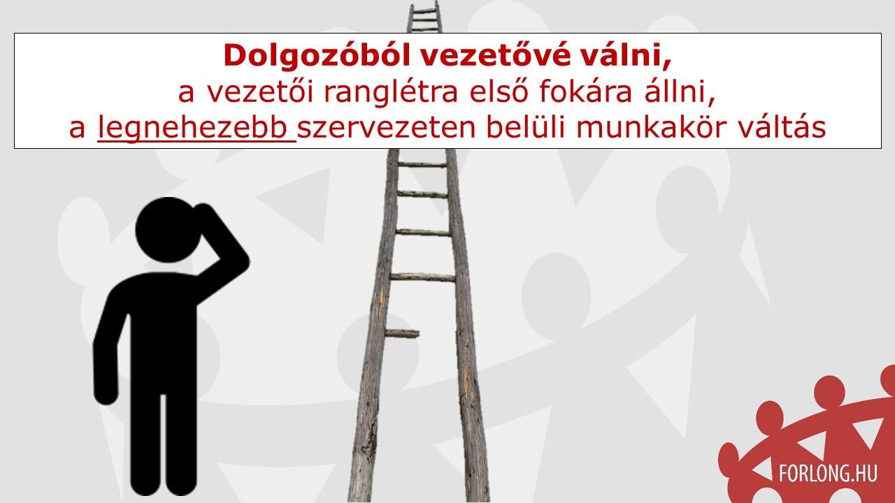 vezetők kiválasztása - dolgozóból vezetővé válni - gyakorlatorientált vezetőképzés
