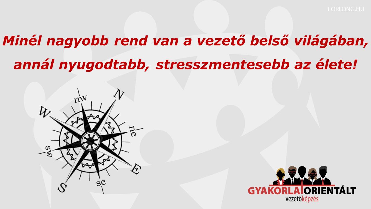 Vezetői stresszkezelés - Minél nagyobb rend van a vezető belső világában, annál nyugodtabb, stresszmentesebb az élete