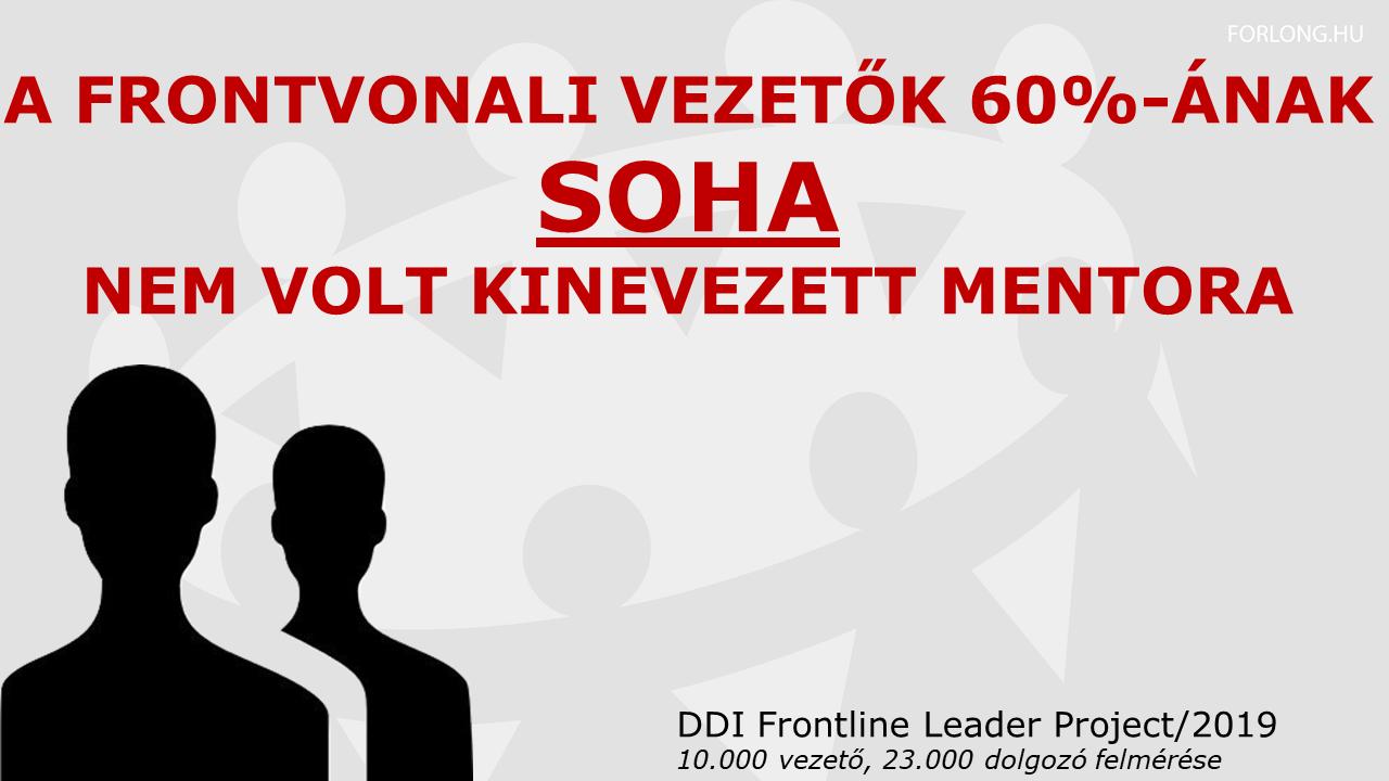 Kutatás a frontvonali vezetőkről - 60%-ának nincs mentora