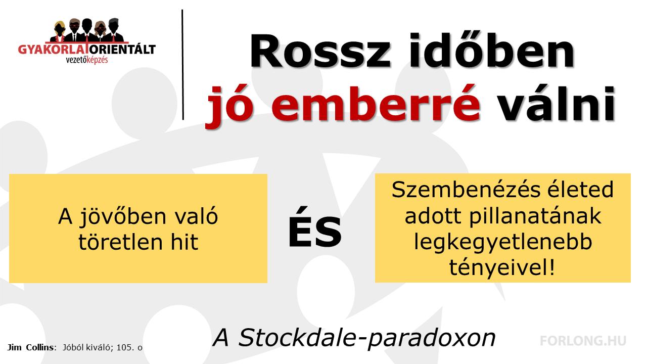 A Stockdale-paradoxon - gyakorlatorientált vezetőképzés - Forlong Bt.