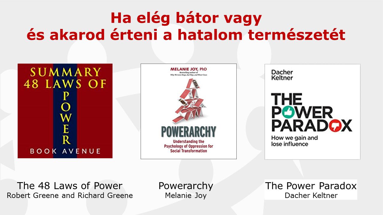 A hatalom természete - könyvajánló - gyakorlatorientált vezetőképzés